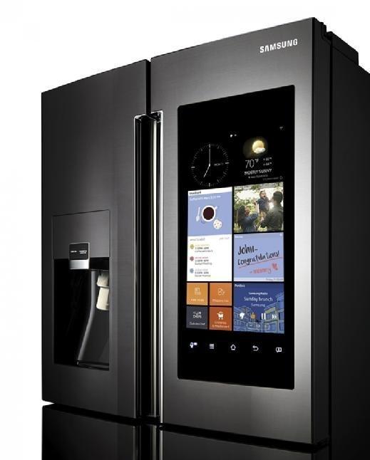 A Samsung refrigerator's interface