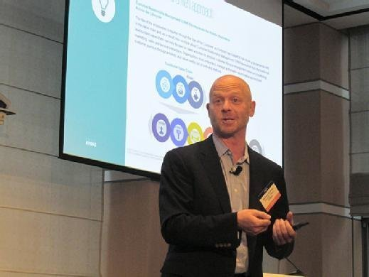 Michael Herman, consultant at KPMG, discusses digital transformation at the Argyle CIO Leadership Forum in New York on Tuesday.