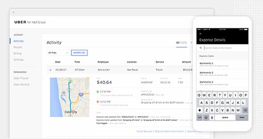 Uber for Business screenshot