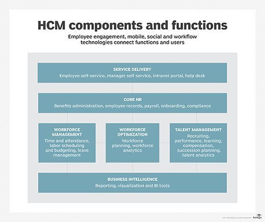 HCM components and functions