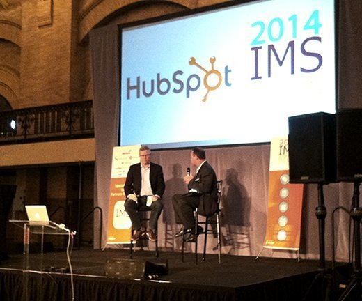 HubSpot CEO Brian Halligan and Butch Stearns of the Pulse Network