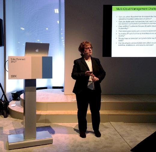 Consultant Judith Hurwitz discusses multicloud management at the recent IBM InterConnect in Las Vegas.