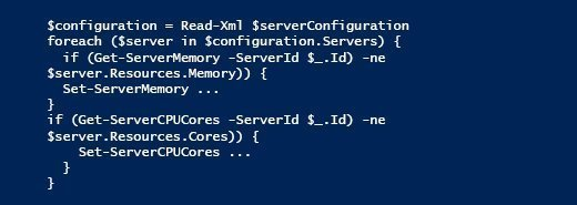infrastructure as code PowerShell pseudocode