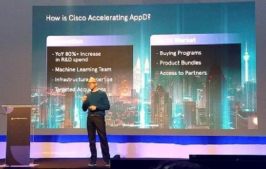 Thomas Wyatt, Cisco VP and general manager at the AppDynamics Summit