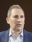 Picture of AWS CEO Andy Jassy at re:Invent 2017