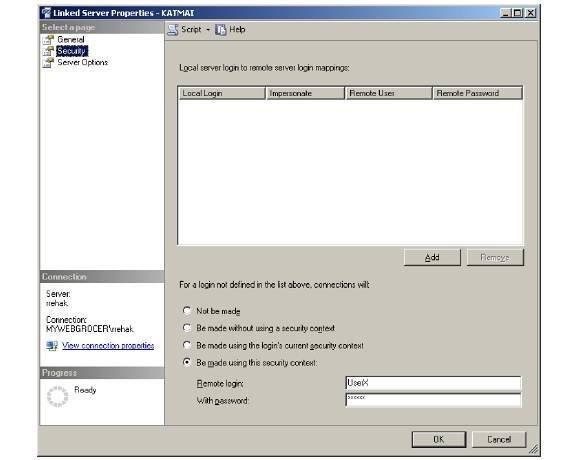 Linked server security 2