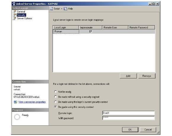 Linked server security 3
