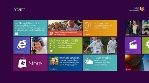 Windows 8 user interface