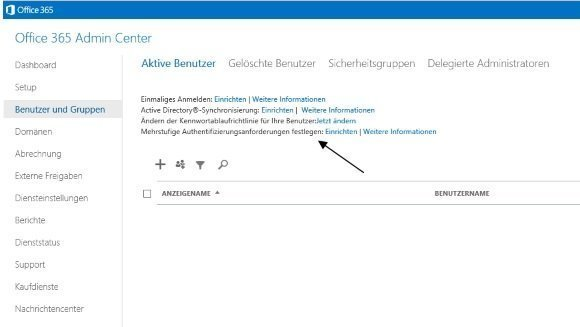 Office 365 Multifaktor-Authnetifikation Konfiguration