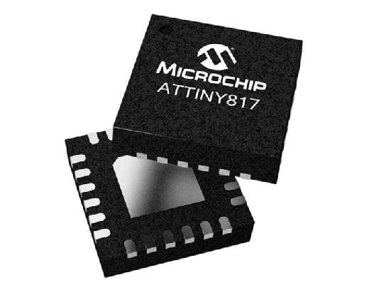 The Microchip Technology ATtiny817 microcontroller.