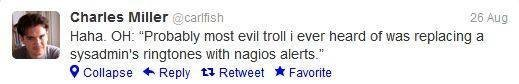 Trolling Naigos alerts