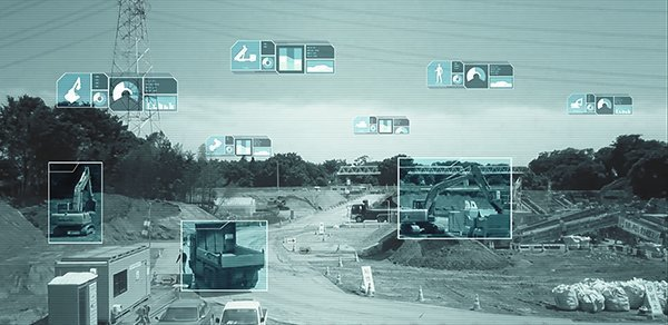 AI and IoT technologies are used to create smart construction initiatives