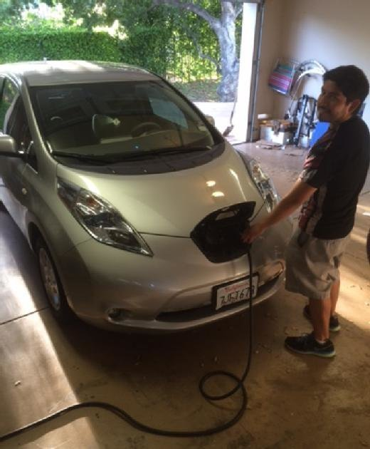 Jonathan Precopio and Nissan Leaf