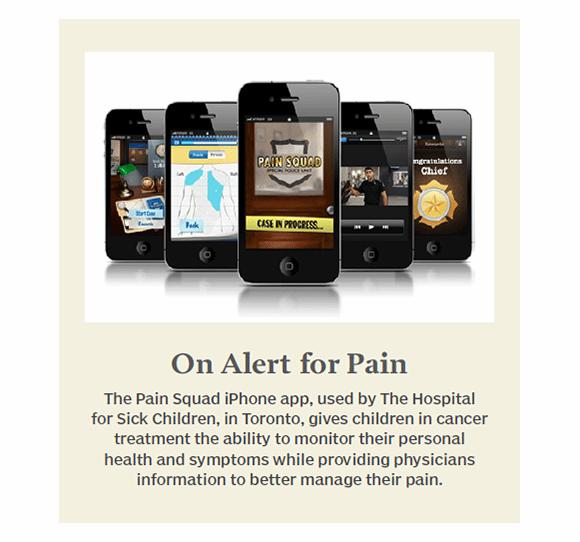 On alert for pain