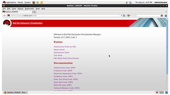 RHEV 3.0 Web Admin Portal