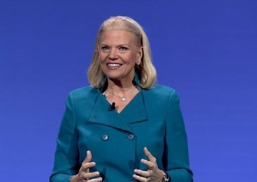 IBM chief executive Ginni Rometty gives an address at IBM InterConnect.