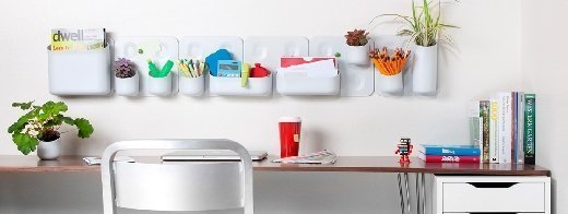 Urbio is a magnetic organizer that makes use of vertical wall space