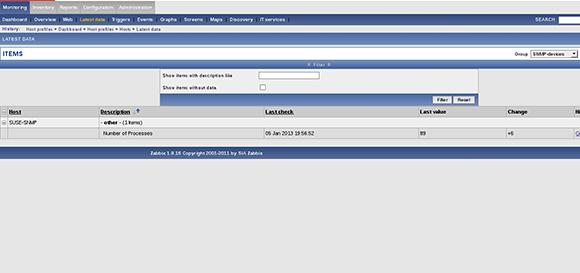 Zabbix SNMP monitoring 2