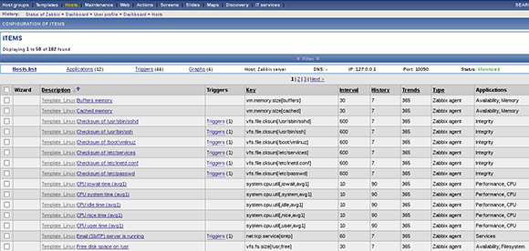 Zabbix interface 3