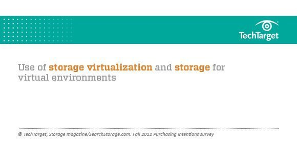 Fall 2012 presentation on storage virtualization and storage for virtualization