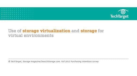 Fall 2012 presentation on storage virtualization and storage for virtualization