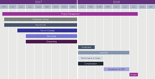 Sample SuccessFactors roadmap