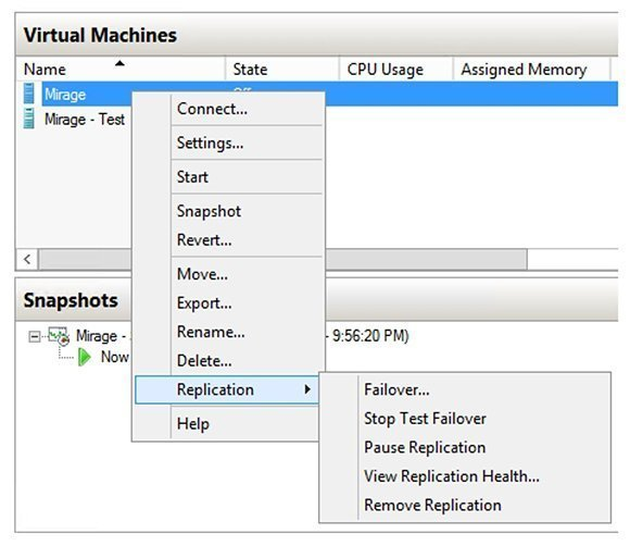 Virtual Machines, Replication