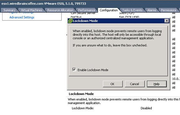 Figure 6: Enabling Lockdown Mode is a key step.