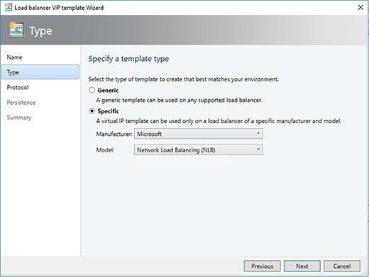 Der Dienst Microsoft Network Load Balancing ist der einzige Lastverteiler, den SCVMM von sich aus kennt.