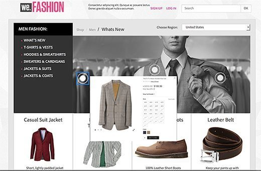 Figure 1: With Adobe Campaign, email recipients can view product details and click to purchase items directly from an email.