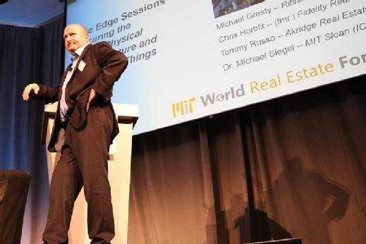 Michael Siegel, principal research scientist at MIT Sloan School of Management, speaks at the MIT World Real Estate Forum.