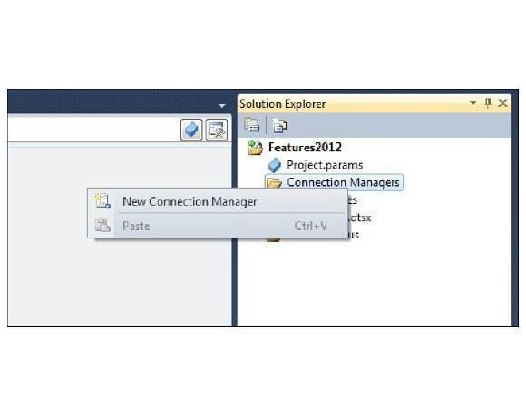 Connection Managers node