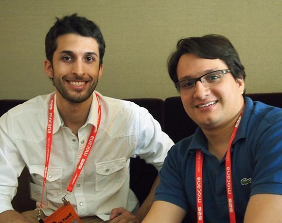 Researchers Lucas Apa and Carlos Penagos