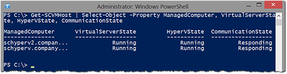 Check the status of a host and ensure the job was completed using the Get-SCVMHost cmdlet.