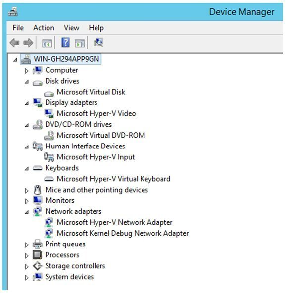 Windows Server 2012 R2 provides Generation 2 VMs that are hypervisor aware