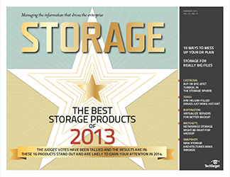 Storage magazine chooses 2013 data storage products of the year
