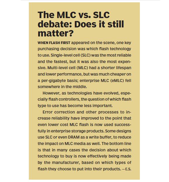 The MLC vs. SLC debate: Does it still matter?