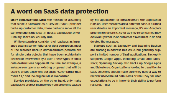 A word on SaaS data protection