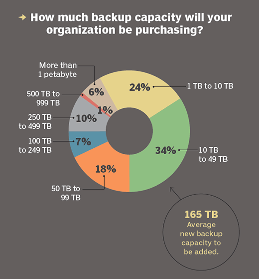 How much backup capacity organizations will purchase