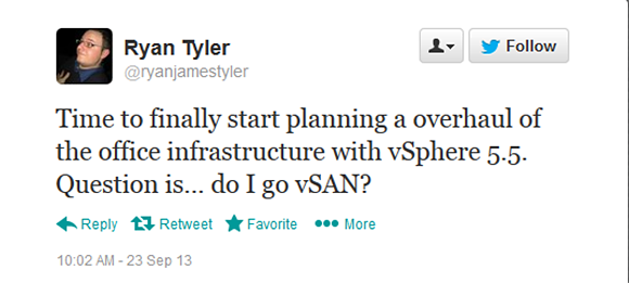 Go with vSAN?