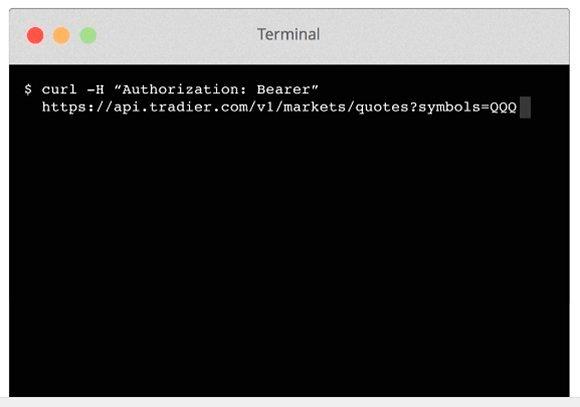 Tradier API