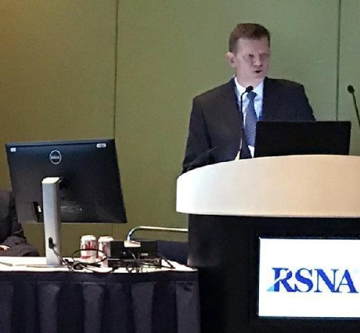 Jim Whitfill, M.D., speaks at RSNA 2017