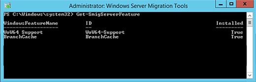 Migrating server features