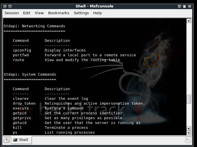 Metasploit commandset