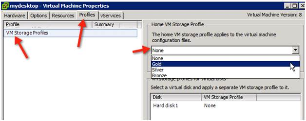 Editing a VM's Storage Profile