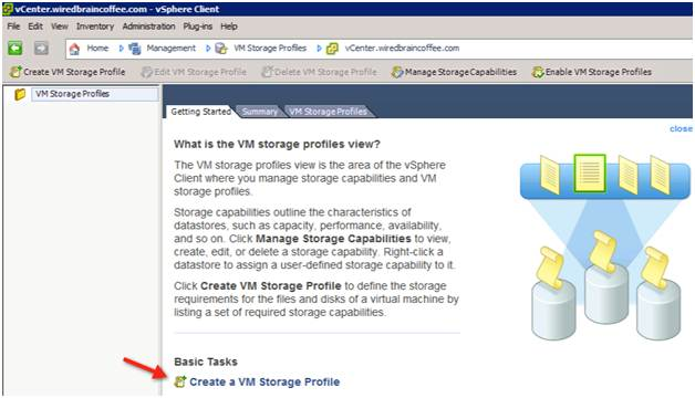 Manage storage capabilities