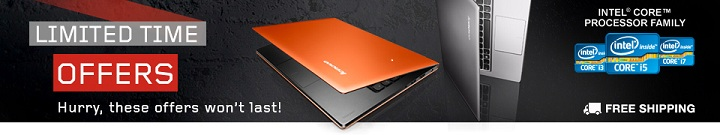 Lenovo Limited Time Offers