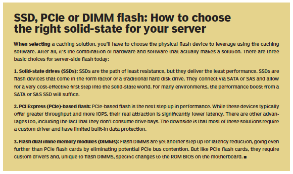 Choosing SSD, PCIe or DIMM flash