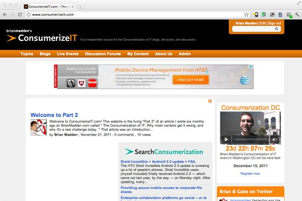 ConsumerizIT home page