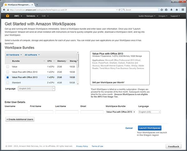 Amazon WorkSpaces: Now with Zero Client access! A